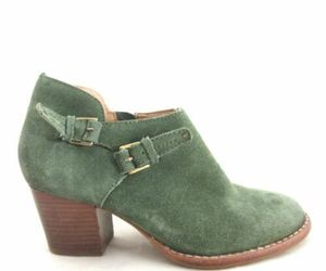 6.5 - Schuler & Sons Anthropologie Green Suede Ankle Boots Booties 0000MB, an item from the 'Cute Booties' hand-picked list