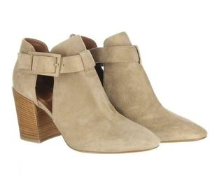 Aquatalia Women's Suede Cutout Booties Tan Ankle Boots Booties Sz. 10.5., an item from the 'Cute Booties' hand-picked list
