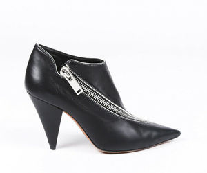 Celine Leather Pointed Zip Booties SZ 36, an item from the 'Cute Booties' hand-picked list