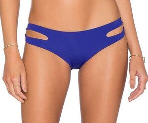 L*SPACE SAPPHIRE ESTELLA CLASSIC CUT OUT HIPSTER BIKINI BOTTOM (XS) NWT, an item from the 'Swimwear' hand-picked list