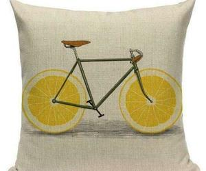 Lemon Fruit Wheel Bicycle Graphic Printed Accent Throw Pillow Cushion Covers Set, an item from the 'Throw Pillows' hand-picked list
