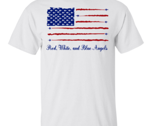 American Flag Red White And Blue Angels Gildan Ultra Cotton T-Shirt Men, an item from the 'Memorial Day - A Time to Remember' hand-picked list