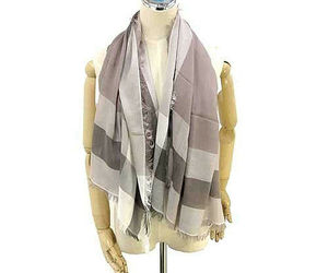Coach Women's Outlet Windowpane Challis Scarf, F54253, One Size, Stone, 8978-3, an item from the 'Hay(ride) Fever' hand-picked list