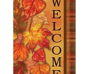 """Cascading Leaves Fall Garden Flag-2 Sided Message,12"""" x 18"""", an item from the 'Leaf It Be' hand-picked list"""