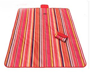 Picnic Blanket with Waterproof Red Stripes Great for The Beach,Camping on Grass, an item from the 'Juneteenth Celebrations' hand-picked list