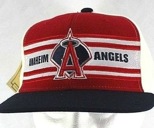 Los Angeles Anaheim Angels Red/Black/White Baseball Cap Fitted 7 3/8 , an item from the 'Awesome Baseball Hats' hand-picked list