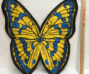 Butterfly Wings Halloween Costume Kids Teen Woman One Size Fits All Black Blue, an item from the 'Kids Halloween Costumes' hand-picked list