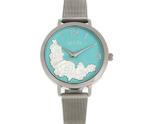 Sophie and Freda Lexington Bracelet Watch - Silver/Turquoise, an item from the 'Watches for Her ' hand-picked list