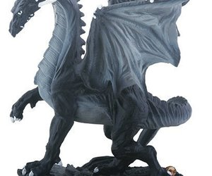 YTC Small Black and Grey Midnight Medieval Dragon Decorative Figurine, an item from the 'Community Picks: Believe in Mystical Magic' hand-picked list