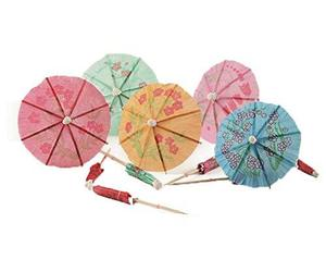 East Majik Umbrella Cocktail Picks Cupcake Toppers 160 Packs - Assorted Colors, an item from the 'Happy Hour at Home' hand-picked list