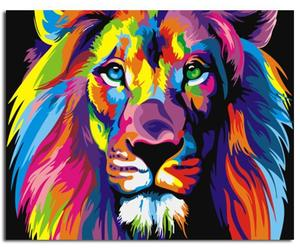 Colorful Abstract Lion Framed Picture Painting & Calligraphy DIY Painting By Num, an item from the 'Add a POP of COLOR to your room' hand-picked list