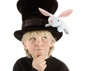 CHILDREN'S SIZE MAGICIAN W/RABBIT HAT FUN @ HALLOWEEN ANYTIME, an item from the 'Kids Halloween Costumes' hand-picked list