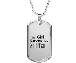 Shih Tzu - Luxury Dog Tag Necklace Lover Owner Mom Birthday Gifts Jewelry, an item from the 'I Shih-Tzu Not' hand-picked list