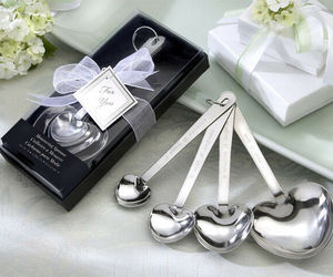70 Love Beyond Measure Heart shaped Spoons wedding favors Bridal Shower Favor, an item from the 'A Reception to Remember' hand-picked list