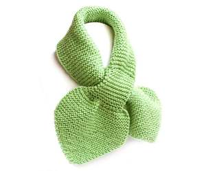 Unisex Kid's Green Knit Scarf, Toddler 2 to 4 Years, an item from the 'Kids Hats, Mittens, and Scarves' hand-picked list