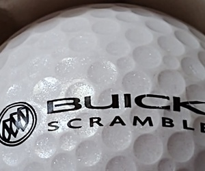 Buick Golf Emblem symbol Mojo Buick Scramble Logo Golf Ball Nike Advertising, an item from the 'Golf is my thing' hand-picked list