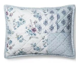 1  Simply Shabby Chic  Blue Dascha Patchwork Standard Pillow Sham NWOT, an item from the 'Girls Night In' hand-picked list
