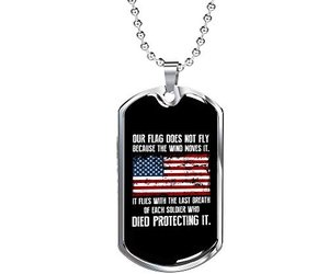 Unique Gifts Store Our Flag - Luxury Dog Tag Necklace, Memorial Day, an item from the 'Memorial Day - A Time to Remember' hand-picked list