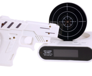 LCD Laser Gun Shooting Target Wake UP Alarm Desk Clock Novelty Gadget Fun Toy, an item from the 'Go Go Gadgets' hand-picked list