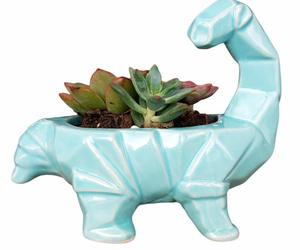 Cute Ceramic Succulent vase Cartoon Dinosaur Shape Animal Planters Decoration , an item from the 'Safe For Work' hand-picked list