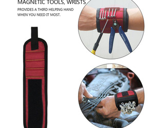 Magnetic WristBand Portable Tool Bag  Electrician Wrist Tool Belt Screws Nails D, an item from the 'Go Go Gadgets' hand-picked list