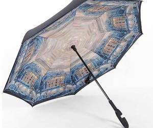 C-Handle Parasol Folding Rain Windproof Umbrella Double Layers Inverted Reverse, an item from the 'Community Picks: April Showers...' hand-picked list