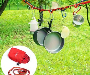 Outdoor Camping Colorful Long Lanyard Clothesline Tent Decoration Lights Lanyard, an item from the 'Go Go Gadgets' hand-picked list