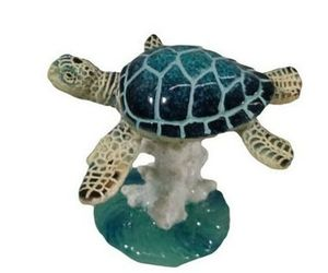 "December Diamonds BLUE SEA TURTLE on CORAL FIGURINE Very Detailed Home Decor, an item from the 'ڰۣڿ☸""YOU`RE A SLOW BOKE"".ڰۣڿ☸' hand-picked list"