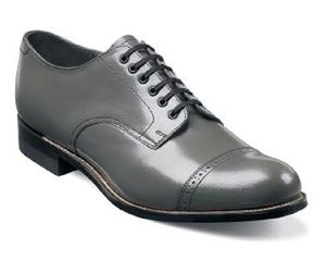 Original Stacy Adams Biscuit Shoes Steel Gray Leather Madison 00012-10, an item from the 'Shoes for Dudes' hand-picked list