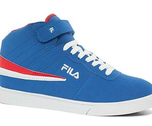 Fila Men's Vulc 13 Mid Plus High Top Classic Athletic Casual Sneaker Blue White , an item from the 'Shoes for Dudes' hand-picked list