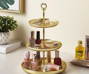 1 Piece Storage Tray For Jewelry Makeup Dessert Food Shelf Holder Table Organize, an item from the 'Let's Put Things in Order' hand-picked list