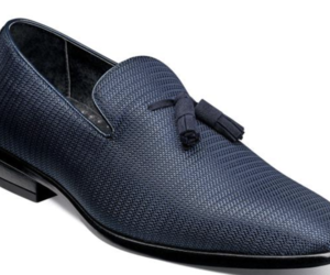 Stacy Adams Men's Tazewell Plain Toe Tassel Slip On Navy 25343-410, an item from the 'Shoes for Dudes' hand-picked list