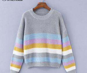 Simenual Macaron stripe sweaters women winter 2018 fashion slim knitted jumper p, an item from the 'Hay(ride) Fever' hand-picked list