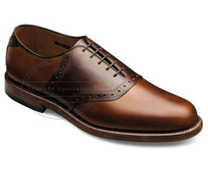 Handmade Men's Burnished Brown Lace-up With Oxford Style Leather Shoes , an item from the 'Shoes for Dudes' hand-picked list