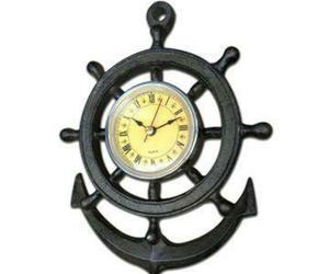 Ship Wheel Design Wall Clock - Cast Iron Nautical, an item from the 'Community Picks: Nautical Isle of Paradise' hand-picked list