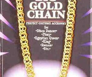 Forum Novelties Big Gold Chain Rapper Hip Hop Halloween Costume Accessory 55860, an item from the 'Costume Accessories' hand-picked list