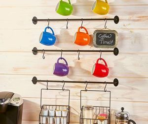 COFFEE MUG WALL RACK K CUP POD STORAGE Save Space Organize Hold Sugar Keurig Tea, an item from the 'Let's Put Things in Order' hand-picked list