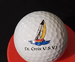 Advertising Logo Golf Ball Collectible St. Croix US Virgin Islands, an item from the 'Golf is my thing' hand-picked list
