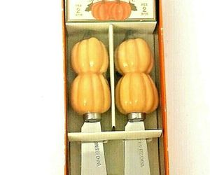 Williams-Sonoma Spreader Set ~ 2 Pumpkin Cheese Spreaders Thanksgiving Fall..., an item from the 'Thanksgiving Table Decorations' hand-picked list