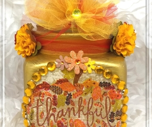 "Glass Apothecary ""Thankful Autumn"" Jar Decor, Vase, Thanksgiving, Vintage, Fall, an item from the 'Fall Must Haves' hand-picked list"