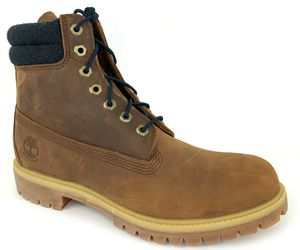 "TIMBERLAND Men's PREMIUM 6"" INCH Waterproof Medium Brown Leather Boots A1QZJ USA, an item from the 'These Boots Were Made for Rocking' hand-picked list"
