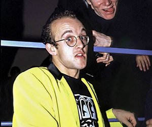 Keith Haring and Andy Warhol, an Archival Print, an item from the 'Keith Haring' hand-picked list