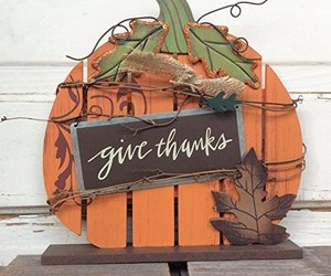 AG Designs Fall Decor - Slat Pallet Pumpkin - Brown Give Thanks, an item from the 'Fall Must Haves' hand-picked list