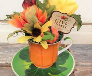 AG Designs Fall Harvest Decor - Give Thanks Floral Tea Cup #520/05, an item from the 'Fall Must Haves' hand-picked list