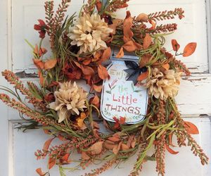 AG Designs Fall Harvest Decor - Floral Wreath –Mason Jar ENJOY the Little Things, an item from the 'Fall Must Haves' hand-picked list