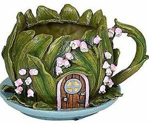 ABZ Brand Mini Fairy Garden Floral Planter Fairy House Garden Display, an item from the 'Pretty Planters' hand-picked list