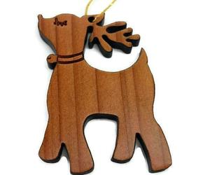 Reindeer Wood Christmas Ornament California Redwood, an item from the 'Handmade Christmas' hand-picked list