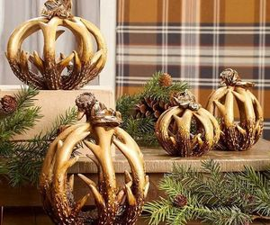 Thanksgiving Fall Winter Deer Antlers Hunting Table Centerpiece Pumpkin , an item from the 'Thanksgiving Table Decorations' hand-picked list