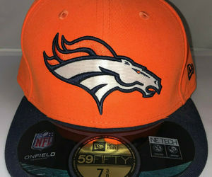 Denver Broncos Fitted Hat Cap NFL New Era 59Fifty 7 3/8 On Field Flat Bill New, an item from the 'Awesome Baseball Hats' hand-picked list