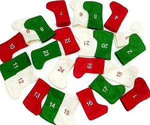 Christmas Advent Calendar DIY Felt Gift Bag Hanging Tree Decor Countdown Garland, an item from the 'It's the Holiday Season' hand-picked list